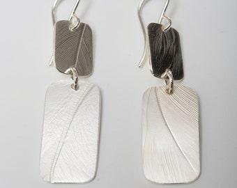 Silver Dangle Earrings, Queen's Armor Jewelry by Hannah Carol