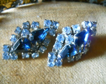 Vintage Blue Bridal Earrings
