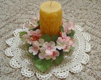 Natural Handmade 100% Beeswax Candle - Wildflower Pillar