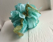 Hand Dyed Ribbon Teal 10 Yards