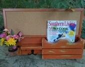 Large Cork board--Message Center--Letter holder--Message Board----Magazine Holder--Mason Jar Vase--Shabby Distressed