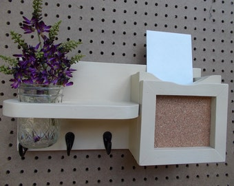 Key and Mail Holder/Magazine Holder/Mason Jar Flower Vase- Pencil Holder/Message board/Entry way organizer