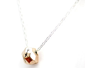Im-Perfect Facet Necklace - Bronze