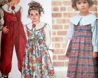 Vintage Childs Blouse Jumper and Jumpsuit Sewing Pattern Simplicity 8025 Size 5 6x UNCUT
