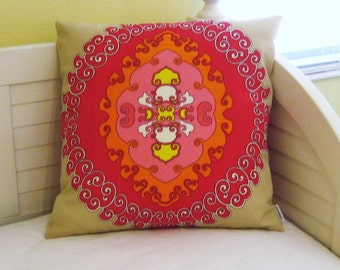 Trina Turk for Schumacher Super Paradise in Punch Indoor Outdoor Pillow Cover - One Side or Both Sides