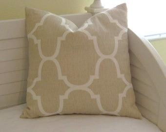 Windsor Smith for Kravet Riad in Dune (on Both Sides)  Designer Pillow Cover - Last One