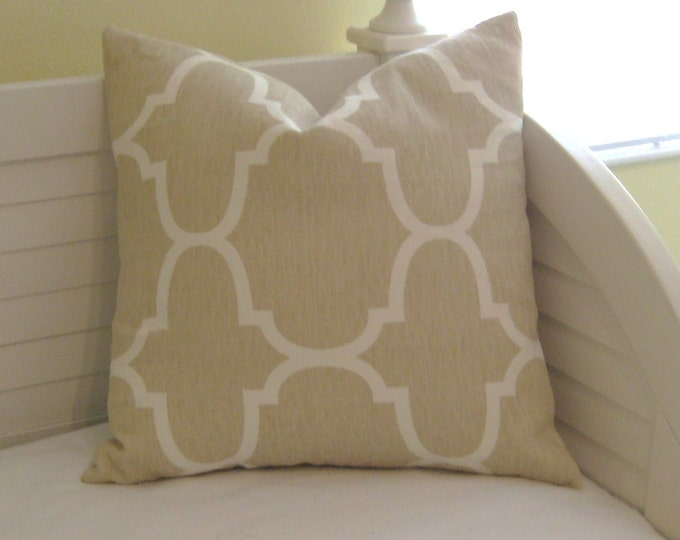 Windsor Smith for Kravet Riad in Dune (on Both Sides)  Designer Pillow Cover - Last One