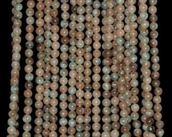 """3mm Jade Round beads full strand 16"""" Loose Beads P142747"""