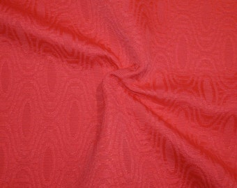 SPECIAL--Coral Geometric Design Cotton Blend Jacquard Fabric-One Yard