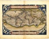 Antique World Map 1560