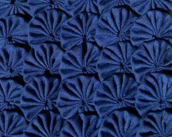50 Dark Blue Navy 1 inch Yo Yos Applique Quilt Pieces Scrapbooking Embellishments