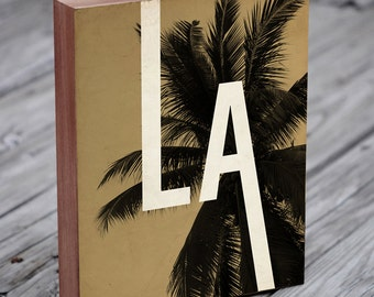 Los Angeles Art - Los Angeles Print - Wood Block Art Print
