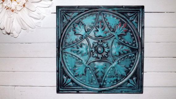 Red Metal Wall Decor: Wall Decor / Turquoise Red / Metal Wall Decor / By