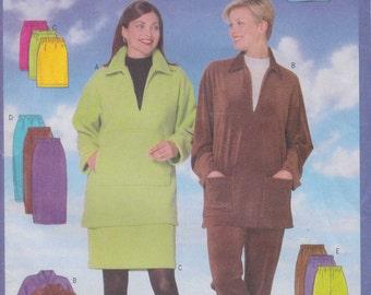 Pullover Top Pattern Pants Pattern  Skirt Pattern Uncut Size XS, S, M  Butterick 5204