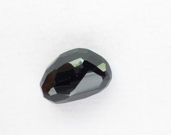 ONYX. Black. Natural. Micro Facet Cut. Clean, Bright, and Lovely. Freeform. 1pc. 20.06 cts. 13x20x8mm  (OX180A)