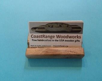 myrtlewood Business Card Holder