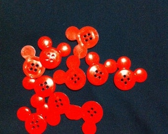 Mickey Mouse Plastic Buttons /Four Holes Buttons/ Sewing Supplies/DIY Craft supplies /Novelty Buttons / Kids Craft Supplies