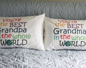 Pillowcase pair printed with You're the Best in the Whole World