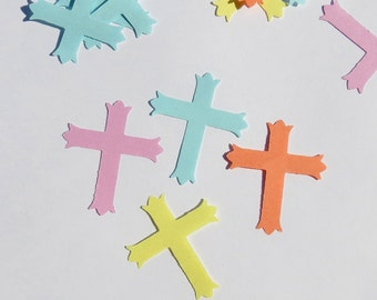 Cross Craft Confetti Scrapbook Embellishment Christian Supplies 140 Pieces