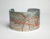 New York Rochester Syracuse Map Cuff Bracelet Unique Gift for Men or Women