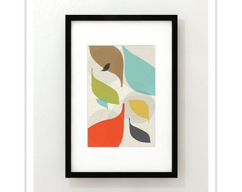 FLOW no.43 - Giclee Print - Mid Century Modern Danish Modern Style Minimalist Modernist Eames Abstract