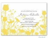 Wedding or Bridal Shower Invite - Fields of Gold - diy printable digital design