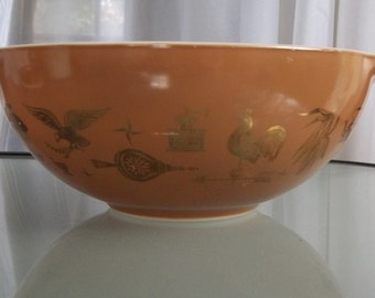 Americana Pyrex Mixing Bowl, Vintage Kitchen