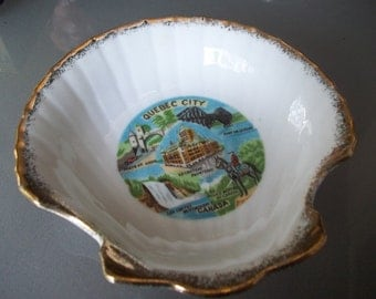 Vintage Souvenir Bowl from Quebec City