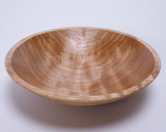 "Curly Maple Wooden Bowl #1255 7"" X 1 3/4"""