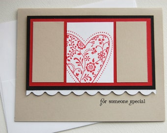 valentine for someone special red black tan