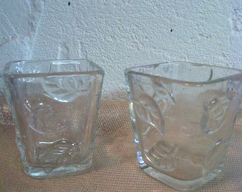 Votive clear Glass  candle holder