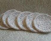 Speckled Ecru Face Scrubbies Kitchen Scrubbies or Coasters  (Set of 6)