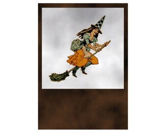 Witch Digital Download Halloween Art jpg and png