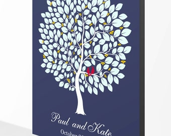 16x20 Wedding Guest Book Gallery Wrapped Canvas - Ready To Hang - To Personalize With 130-160 Guest's Signatures