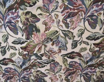 Tapestry Upholstery Fabric - Floral Fabric - Suitable for Carpet Bags - Fabric Remnant - Extra Wide