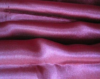 "Satin Fabric - Wine Color - Remnant Fabric - 82 x 59"" - Lining Fabric - Burgundy Satin"