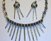 Copper and Aluminum Collar Necklace & Earring Set, Free US Shipping