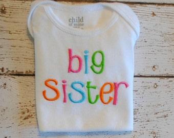Sibling Shirt/Bodysuit Big Sis or Lil Sis or Big Bro or Lil bro