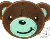 Teddy Bear - boy  applique design  - machine embroidery design- Many formats - INSTANT DOWNLOAD