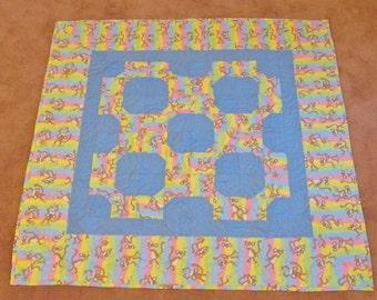 Monkey Quilt in pastels