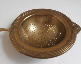 Brass Silver Tea Strainer Circa 1900's