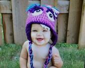 Google Eye Monster Hat, Crochet Monster Hat, Baby Hat,  Child Hat