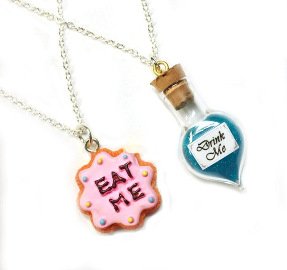 items similar to alice in wonderland best friends necklace