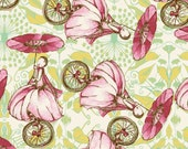 Unicycle Play in Strawberry - RIDDLES & RHYMES (pwtg153)  - Tina Givens - Free Spirit Fabric  - By the Yard