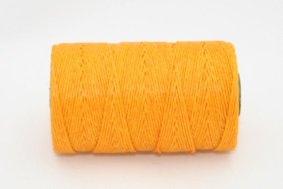 Waxed Irish Linen Thread Bright Autumn Yellow 4 Ply