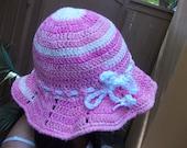 Brimmed Crochet Hat - Crochet Sun Hat - Floppy Hat - Beach Hat - Pink Summer Hat - Fashion Accessories