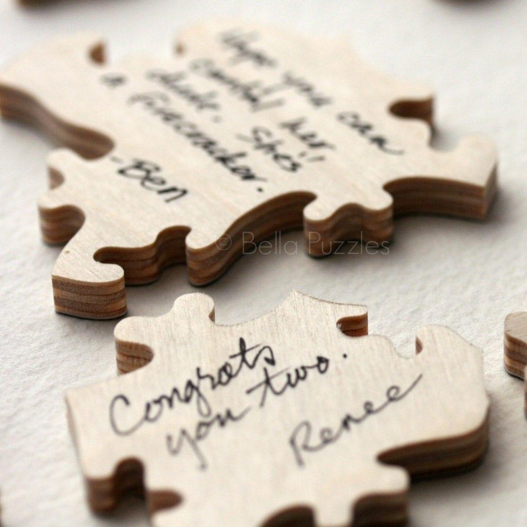 Wedding Guest Signature Ideas: 90 Pc Wedding Guestbook Puzzle Custom Guestbook Alternative