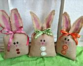Burlap Easter Bunny, Burlap Easter Rabbit, Easter Bunny, Easter Basket decoration, Easter Basket Bunny, Easter decoration, Easter Gift