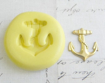 ANCHOR with ROPE - Flexible Silicone Mold - Push Mold, Polymer Clay Mold, Pmc Mold, Jewelry Mold, Resin Mold