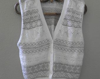 Sweater vest, cotton, button down, size Women's small to Medium
